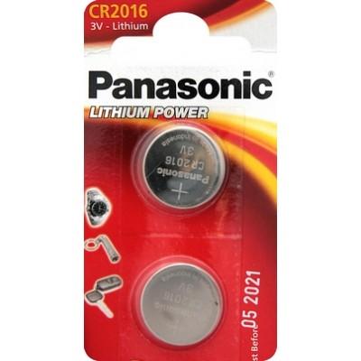 Батарейки Panasonic CR 2016 Lithium Power 3V, 2 шт./уп. (CR-2016EL/2B)