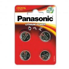 Батарейки Panasonic CR 2016 Lithium Power 3V, 4 шт./уп. (CR-2016EL/4B)