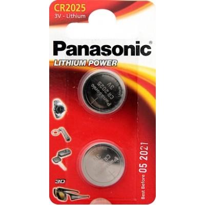 Батарейки Panasonic CR 2025 Lithium Power 3V, 2 шт./уп. (CR-2025EL/2B)