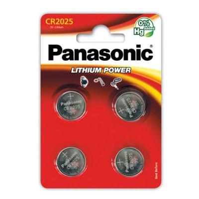 Батарейки Panasonic CR 2025 Lithium Power 3V, 4 шт./уп. (CR-2025EL/4B)