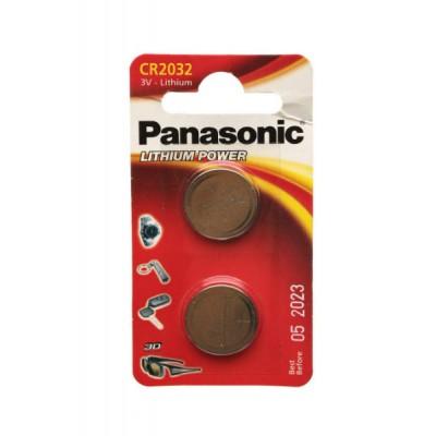 Батарейки Panasonic CR 2032 Lithium Power 3V, 2 шт./уп. (CR-2032EL/2B)