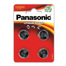 Батарейки Panasonic CR 2032 Lithium Power 3V, 4 шт./уп. (CR-2032EL/4B)