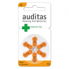 Батарейки AUDITAS 13 (PR48), 6 шт./уп.