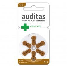 Батарейки AUDITAS 312 (PR41), 6 шт./уп.