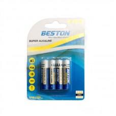 Батарейка Beston AAA Alkaline, 4шт./уп. (AAB1833)
