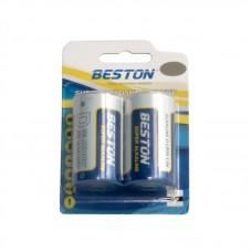 Батарейки Beston Alkaline D (LR20) щелочная, 2шт./уп.