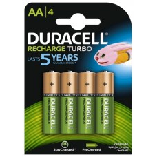 Аккумуляторы Duracell Recharge Turbo АА 2500 mAh, 4 шт./уп. (DX1500)