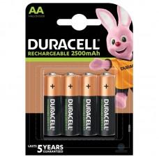 Аккумуляторы Duracell Rechargeable AA 2500 mAh, 4 шт./уп.
