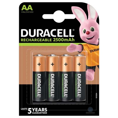 Аккумуляторы Duracell Rechargeable AA 2500, 4 шт./уп.