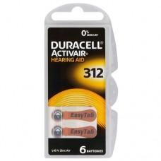 Батарейки Duracell Activair 312 (6 шт. в кейсе)
