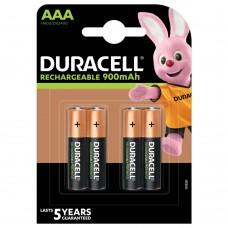 Аккумуляторы Duracell Rechargeable ААA 900 mAh, 4 шт./уп.