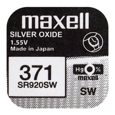 Батарейка Maxell 371 (SR920SW) Silver Oxide 1.55V