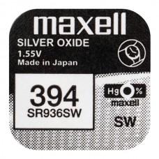 Батарейка Maxell 394 (SR936SW) Silver Oxide 1.55V
