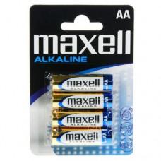 Батарейки Maxell Alkaline AA, 4 шт./уп.