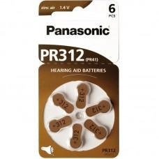 Батарейки Panasonic 312, 6 шт./уп.