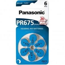 Батарейки Panasonic 675 , 6 шт./уп.