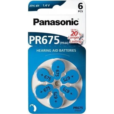 Батарейки Panasonic 675, 6 шт./уп.