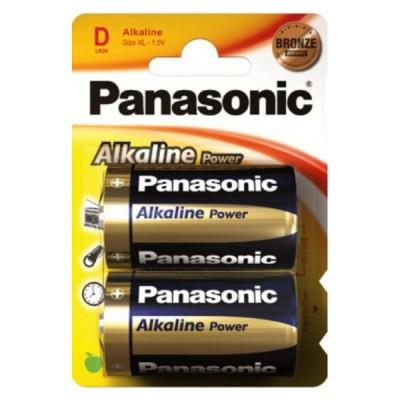Батарейки Panasonic ALKALINE POWER D, 2 шт./уп. (LR20REB/2BP)