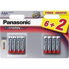 Батарейки Panasonic EVERYDAY POWER AAA Alkaline, 8 шт./уп. (LR03REE/8B2F)
