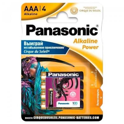 Батарейка Panasonic ALKALINE POWER AAA Cirque du Soleil, 4 шт./уп. (LR03REB/4BPSCDS)