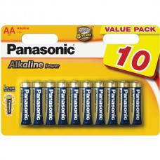 Батарейка Panasonic ALKALINE POWER AA, 10 шт./уп. (LR6REB/10BW)