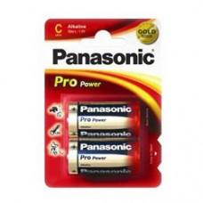 Батарейка Panasonic PRO POWER C Alkaline, 2 шт./уп.(LR14XEG/2BP)