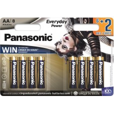Батарейка Panasonic EVERYDAY POWER AA Alkaline Cirque du Soleil, 8 шт./уп. (LR6REE/8B2FCDS)