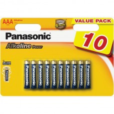 Батарейка Panasonic ALKALINE POWER AAA, 10 шт./уп. (LR03REB/10BW)