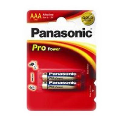 Батарейка Panasonic PRO POWER AAA Alkaline, 2 шт./уп. (LR03XEG/2BPR)