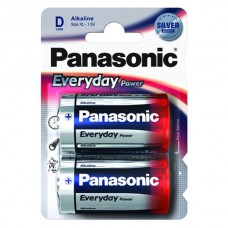 Батарейка Panasonic EVERYDAY POWER D Alkaline, 2 шт./уп. (LR20REE/2BR)