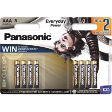 Батарейка Panasonic EVERYDAY POWER AAA Alkaline Cirque du Soleil, 8 шт./уп. (LR03REE/8B2FCDS)