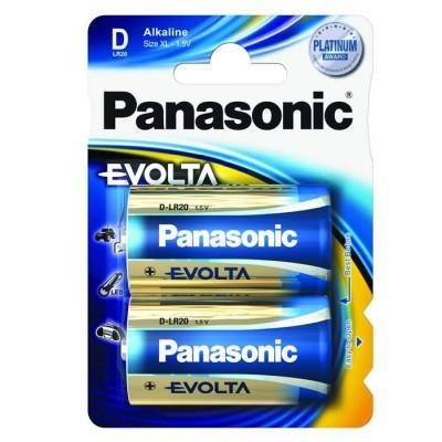 Батарейка Panasonic EVOLTA D Alkaline, 2 шт./уп. (LR20EGE/2BP)