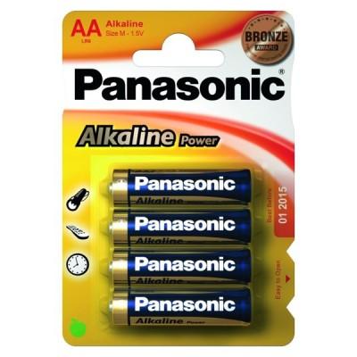 Батарейки Panasonic ALKALINE POWER AA, 4 шт./уп. (LR6REB/4BPR)