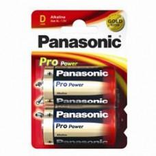 Батарейка Panasonic PRO POWER D Alkaline, 2 шт./уп. (LR20XEG/2BP)