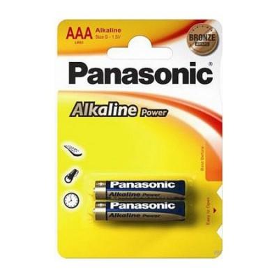 Батарейки Panasonic ALKALINE POWER AAA, 2 шт./уп. (LR03REB/2BP)