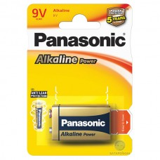 Батарейки Panasonic ALKALINE POWER Крона 9V (6LR61REB/1BP)