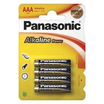 Батарейки Panasonic ALKALINE POWER AAA, 4 шт./уп. (LR03REB/4BPR)