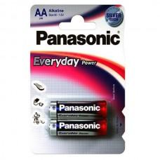 Батарейки Panasonic EVERYDAY POWER AA Alkaline, 2 шт./уп. | УЦЕНКА