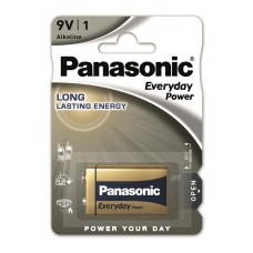 Батарейки Panasonic EVERYDAY POWER Крона 9V (6F22REE/1B)