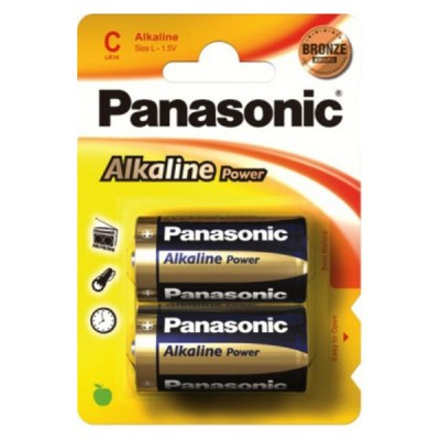 Батарейки Panasonic ALKALINE POWER C, 2 шт./уп. (LR14REB/2BP)