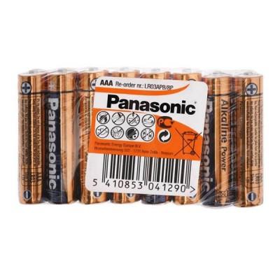 Батарейка Panasonic ALKALINE POWER AAA, 8 шт./уп. (LR03REB/8P)