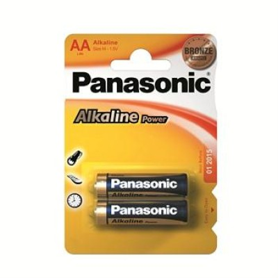 Батарейки Panasonic ALKALINE POWER AA, 2 шт./уп. (LR6REB/2BP)