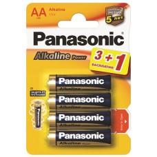 Батарейки Panasonic ALKALINE POWER AA, 4 шт./уп. (LR6REB/4B1F)