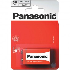 Батарейки Panasonic RED ZINK КРОНА (6F22) ZINK-CARBON (6F22REL/1BP)