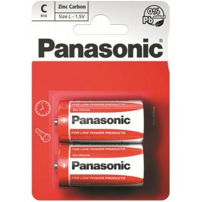 Батарейки Panasonic RED ZINK C (R14) ZINK-CARBON, 2 шт./уп. (R14REL/2BPR)