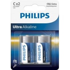 Батарейка Philips Ultra Alkaline C, 2шт./уп.