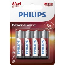 Батарейка Philips Power Alkaline AA, 4шт./уп.