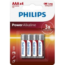 Батарейка Philips Power Alkaline AAA, 4шт./уп.