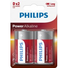 Батарейка Philips Power Alkaline D, 2шт./уп.