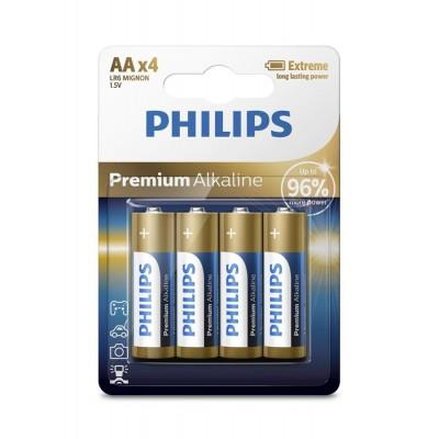 Батарейка Philips Premium Alkaline AA, 4шт./уп.
